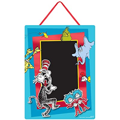 "Dr. Seuss Party, Cardboard Easel Sign Chalkboard, 14"" x 10.5"": Toys & Games"