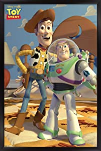 "Trends International Disney Pixar Toy Story - Pals Wall Poster, 22.375"" x 34"", Black Framed Version"