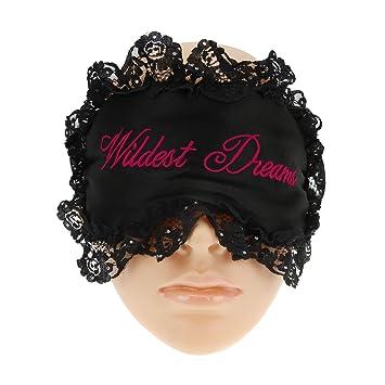 c865bc314 Amazon.com   FakeFace Sexy Double-sided Fancy Silk Eye Mask Sleeping Mask  Eyeshade with Black Lace Around Blindfold Sleep Blinder Eye Beauty Travel  Night ...