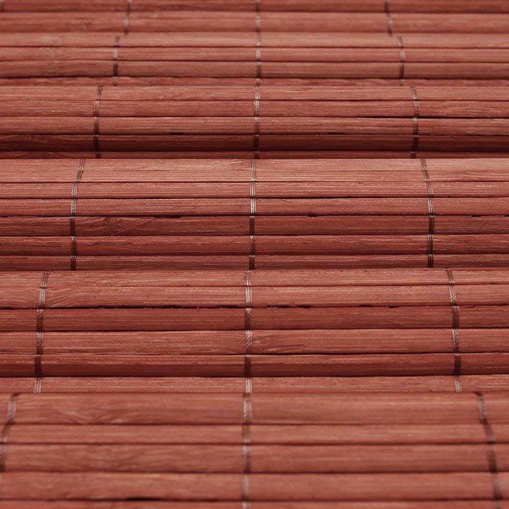 sans pr/é-per/çage pour lint/érieur Store Bambou 110 x 220 cm Cerise Store en Bambou avec syst/ème Klemmfix Victoria M
