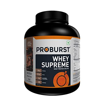 9aaffc4bbb5af Buy Proburst Whey Supreme - 2kg (Double Chocolate) Online at Low Prices in  India - Amazon.in