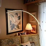 Brightech Sparq Arc Led Floor Lamp Modern Over The Sofa