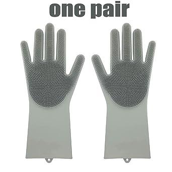 Guantes de silicona magia Saksak reutilizable guantes de látex ...