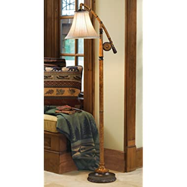 Black Forest Décor Wildnerness Fishing Pole Floor Lamp