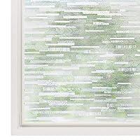 rabbitgoo Privacy Window Film Frosted Matte Window Sticker Static Cling Door Film...
