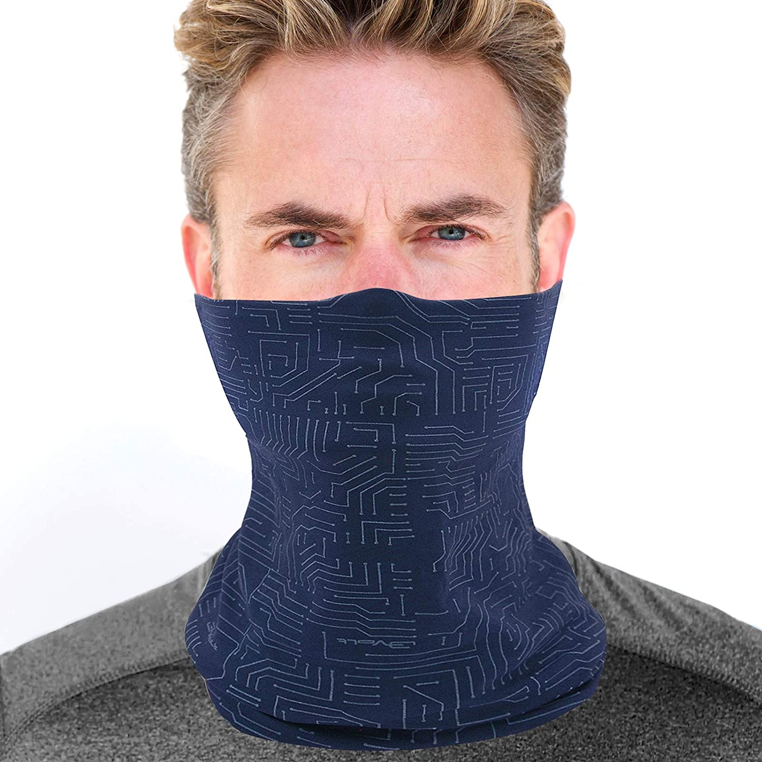 Fishing Sun Tube Face Mask UV Protection for Men Women - Aqua Cooling Neck Gaiter for Hunting Motorcycle Cycling in Summer - Dust Wind Shield Fast Dry Extreme Soft Feeling Dufont Tactel Fabric