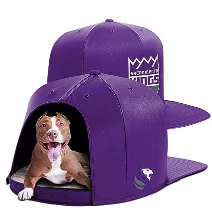 a025b56227c639 Amazon.com: NAP CAP NBA Sacramento Kings Team Indoor Pet Bed, Purple ...