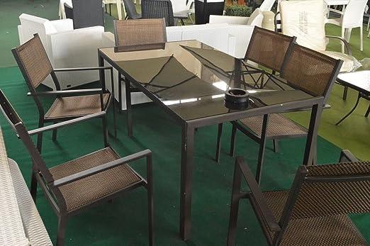 Sossio Cimmino Juego de jardín Dafne Metal con 6 sillones ...