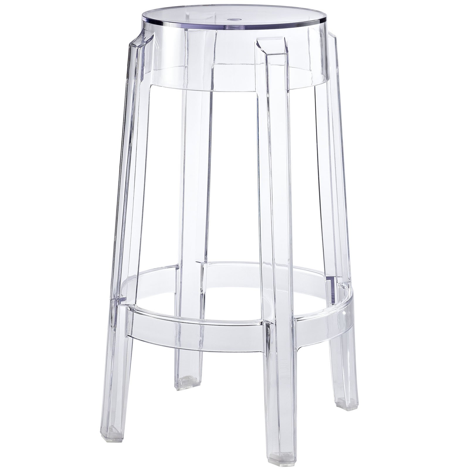 Modway Casper Contemporary Modern Counter Bar Stool in Clear