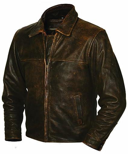 Amazon Com Sts Ranchwear Men S The Rifleman Leather Jacket Rustic