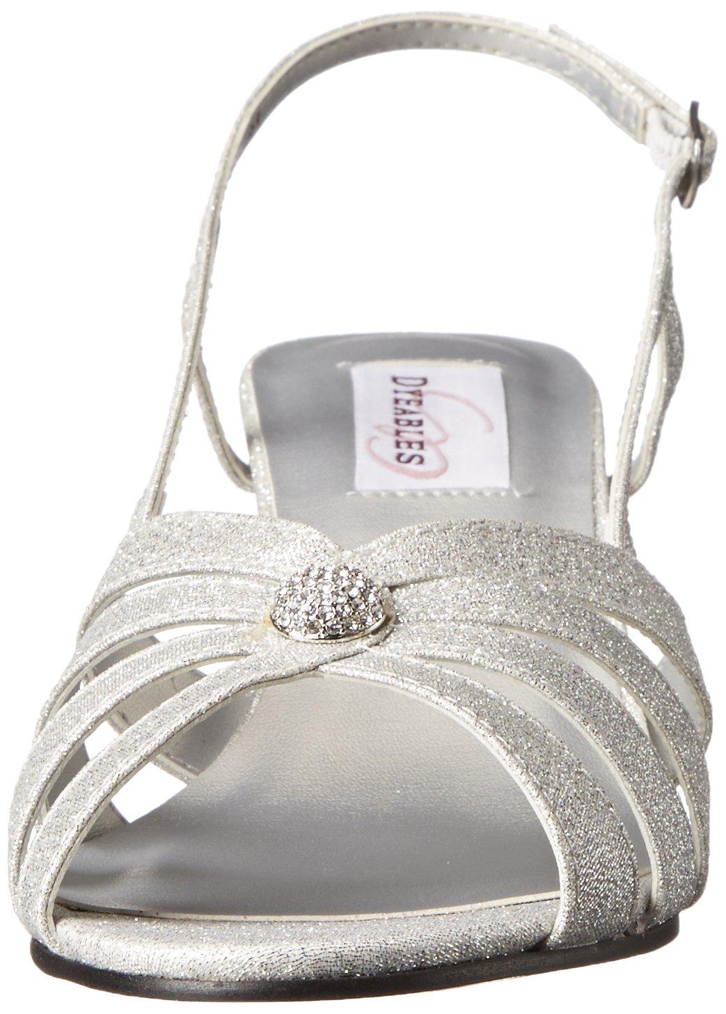 Dyeables, Inc Womens Fiona Dress Sandal B00ZWNB3CO 10 B(M) US|Silver Sparkle