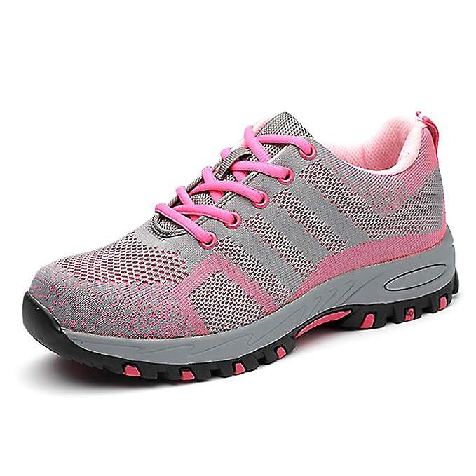 JIEFU Zapatos Seguridad Mujer Ligeros S1P Calzado de ...