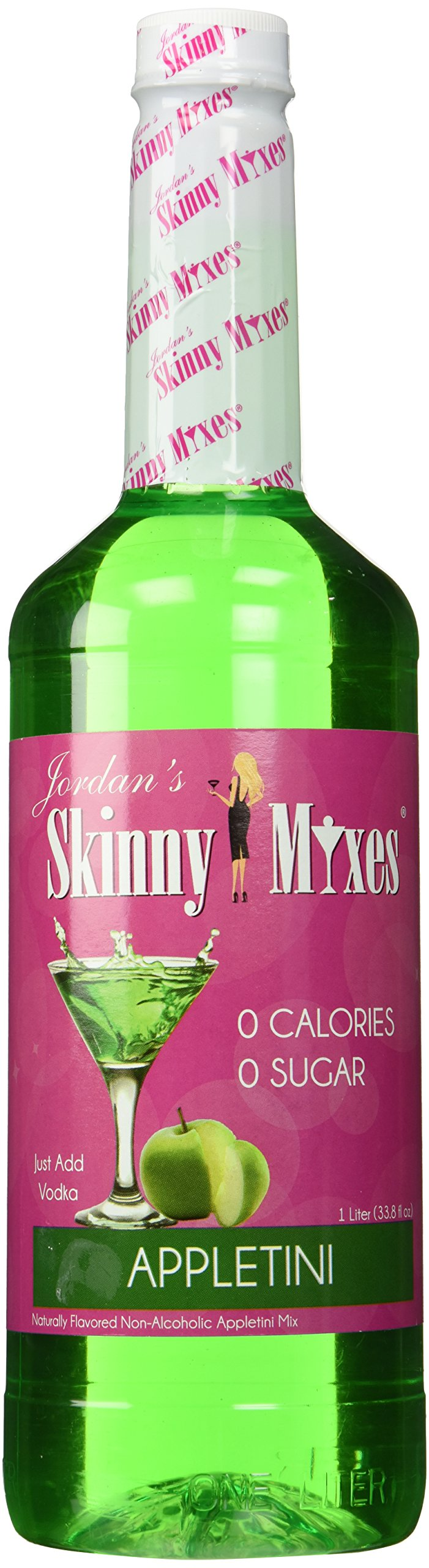 Appletini- Jordan's Skinny Mixes - Sugar Free, 1 Liter (33.8 fl oz)