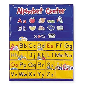 Learning Resources Alphabet Center Pocket Chart, ABCs, Letter, Word Recognition, 212 Pieces
