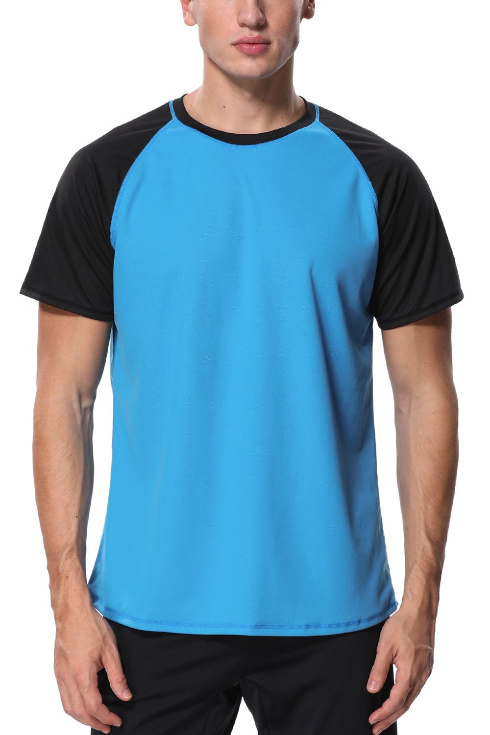 Charmo Swim Shirts uv Protection Shirt Mens Loose
