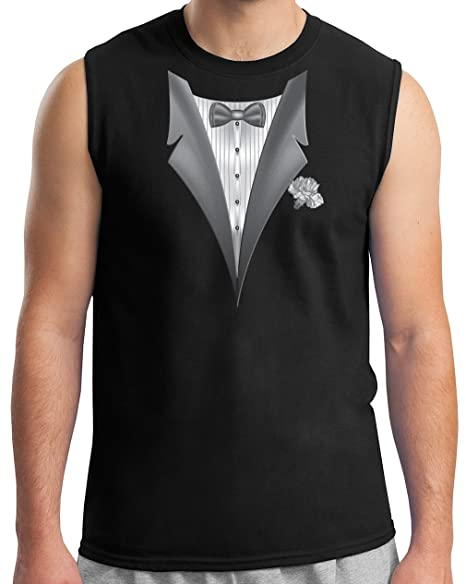 hot-selling clearance factory outlet affordable price Tuxedo Shirt - Sleeveless Muscle Tux T-shirt Tee - Black at ...