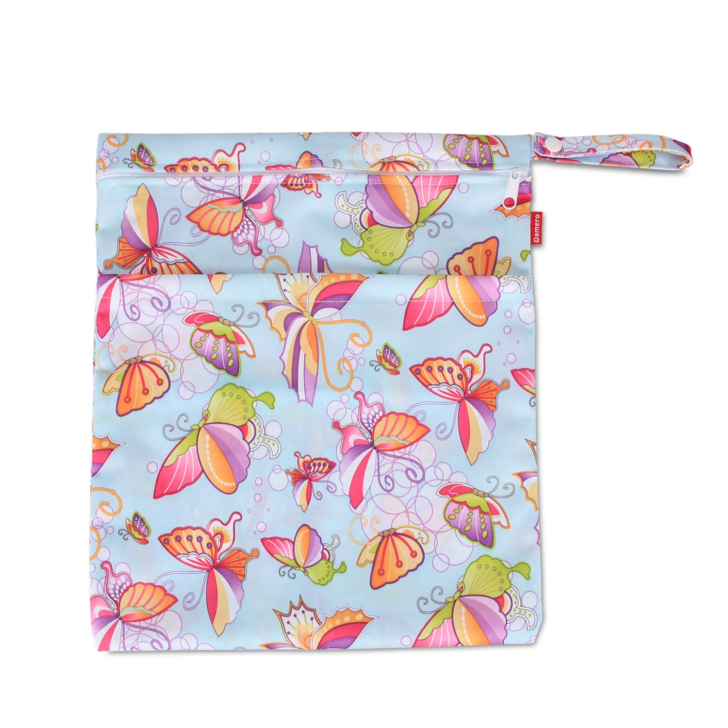 Clothes Pumping Parts Reusable and Water-resistant Travel Wet and Dry Bag with Handle for Cloth Diaper Damero Cloth Diaper Wet Dry Bags Medium,Colorful Butterfly Swimsuit and More