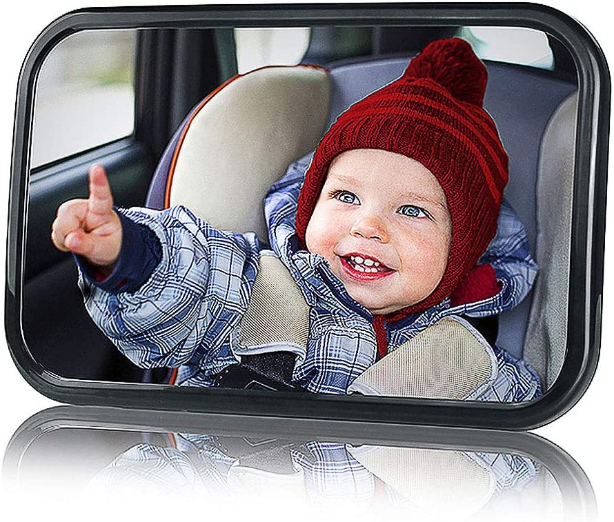 Miroir Auto B/éb/é R/étroviseur de Surveillance B/éb/é pour Si/ège Arri/ère Miroir de Voiture pour B/éb/é en S/écurit/é avez une Rotation TedGem B/éb/é Vue Arri/ère Miroir