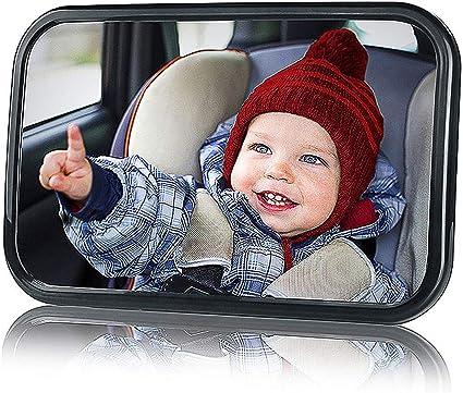 Miroir R/étroviseur B/éb/é de Surveillance B/éb/é pour Si/ège Arri/ère Miroir de Voiture pour B/éb/é en S/écurit/é avez une Rotation 360/°,Retroviseur Bebe Confort(Noir)