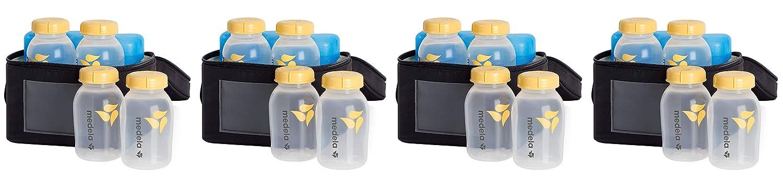 Breast Milk Cooler and Transport Set,5oz Bottles with Lids,Contoured Ice Pack