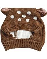 niceEshop(TM) Beanie Hat for Baby, Cute Deer Toddler Winter Earflap Warm Cap (Coffee)