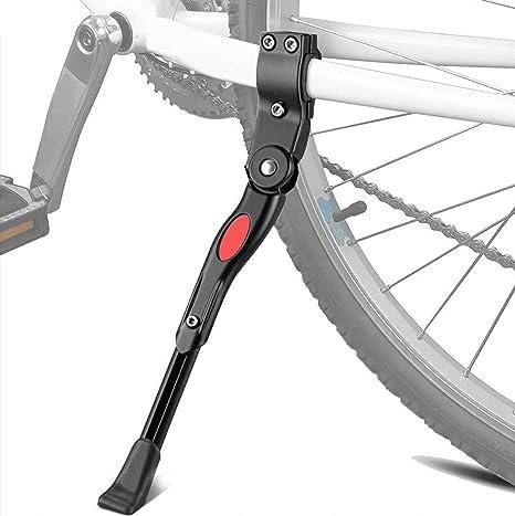 Wenxiaw Pata de Cabra Bicicleta Caballete Lateral Bicicleta de Altura Ajustable para Bicicleta de Monta/ña Bicicleta de Carretera Bicicleta para Bicicleta de Ni/ños Bicicleta de Plegable