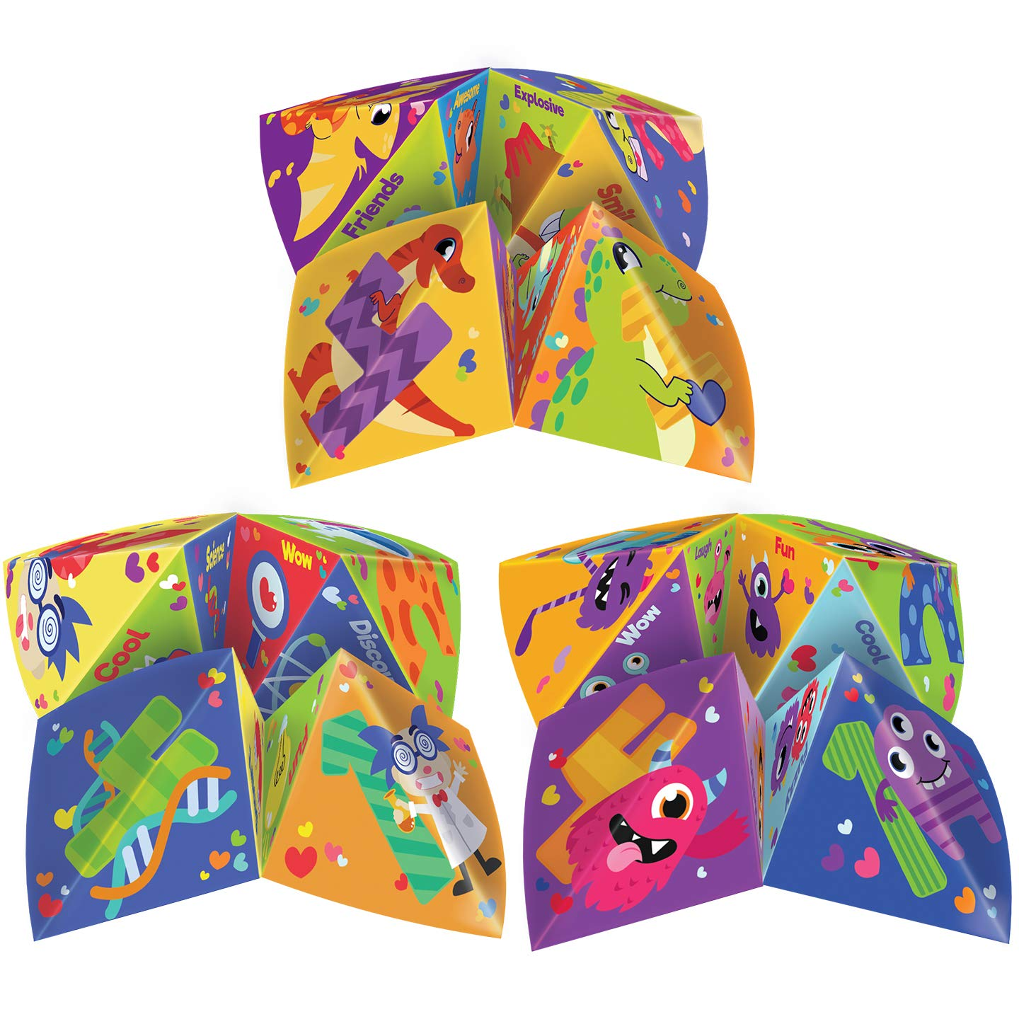 42 Valentines Day Cootie Catcher Cards Game with Envelopes Giveaways Goodies Treats and Family Activity Love Party Favors Supplies Great for Kids Card Games Joyin Inc School Classroom Games