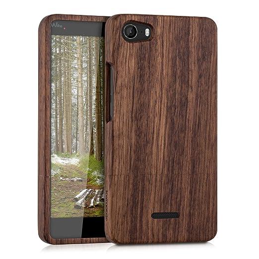 8 opinioni per kwmobile Custodia in legno per Wiko Fever 4G Cover legno naturale legno di rosa-