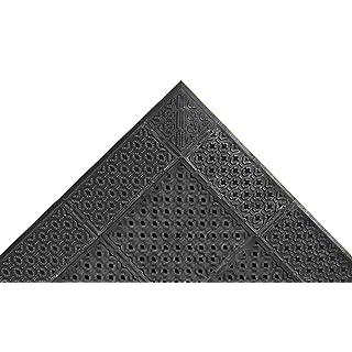 "NoTrax PVC Vinyl 520 Cushion-Lok Anti-Fatigue Drainage Mat, for Wet Areas, 30"" Width x 48"" Length x 7/8"" Thickness, Black"