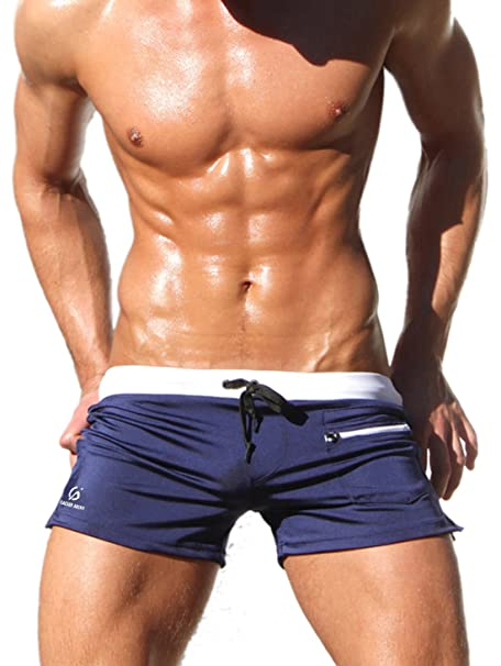 Mens Camo Boxer Briefs Swim Trunks HOM