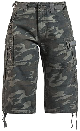Army Vintage Shorts Girl-Shorts camouflage Black Premium by EMP