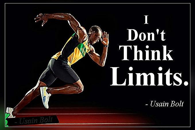 24x18 777 Tri-Seven Entertainment Usain Bolt Poster Running Fast Lightning Art Print,