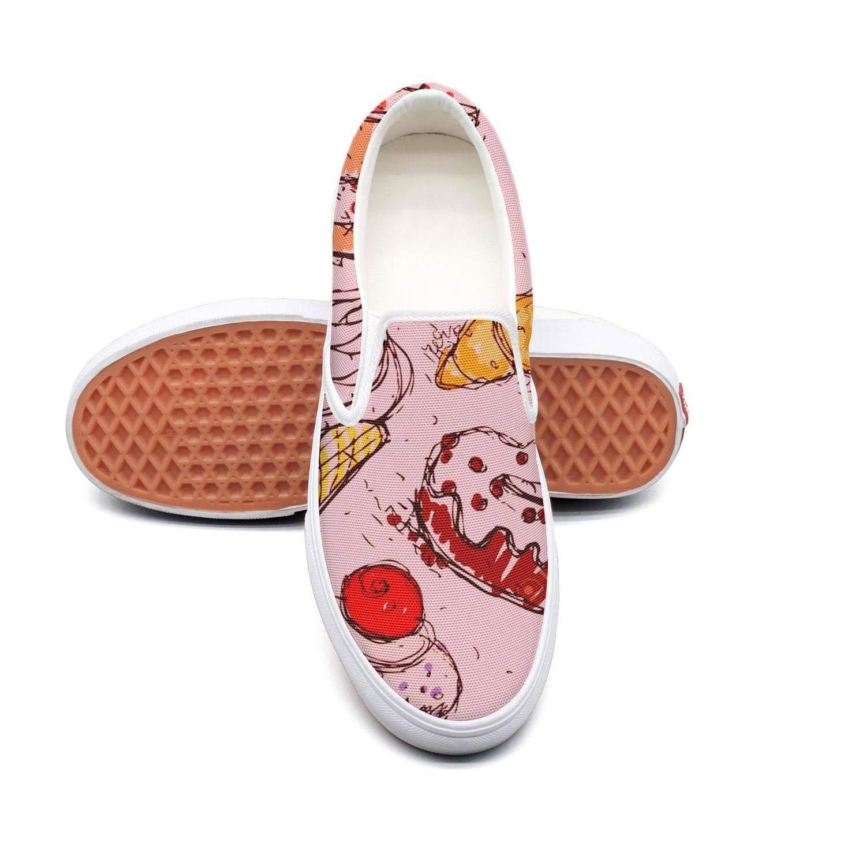 IEKLFKFVF banana pineapple ice cream Orange Mens skate shoes print Casual X 2018
