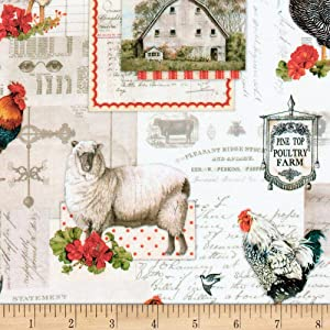 Kaufman Down On The Farm Animals Country Quilt Fabric