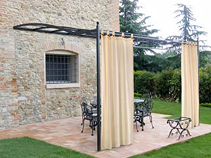 Tenda per gazebo a bratella ecru cm.160x270 h: amazon.it: casa e cucina