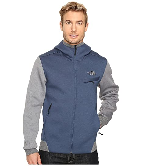 772b74c83 The North Face Thermal 3D Full Zip Hoodie Shady Blue/Black Heather Men's  Sweatshirt