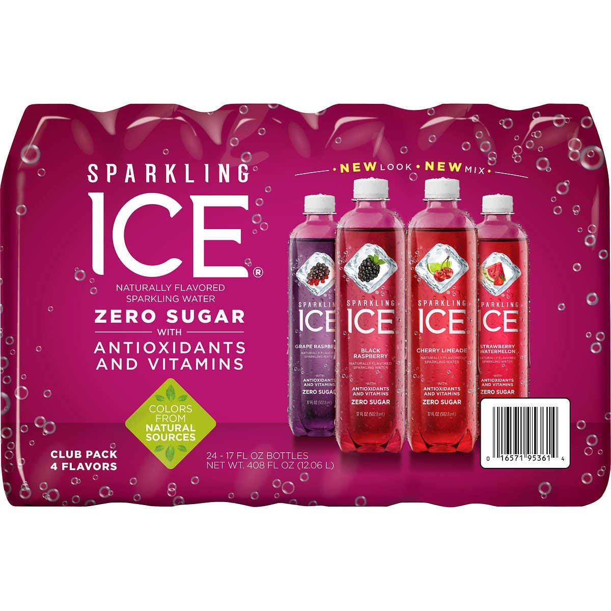 Sparkling Ice Very Berry Huge Variety Pack of 24 Bottles