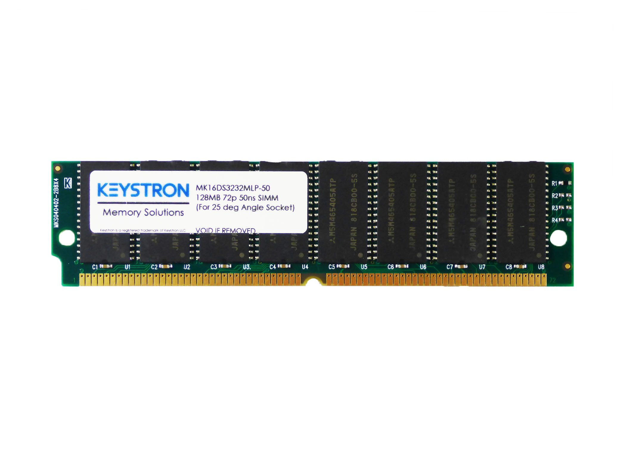 128MB 72pin 50ns Low Profile SIMM Ram Memory for Amiga Blizzard 1260 & PPC with Angled SIMM Socket