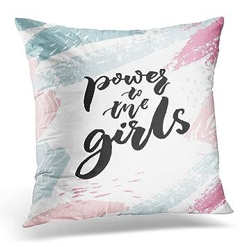 Amazon.com: Funda de almohada Sdamase Power to The Girls ...