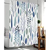 wtisan Shower Curtains Floral Shower Curtain Leaf Shower Curtain Plants Tropical Shower Curtain,Waterproof Fabric Shower Curt