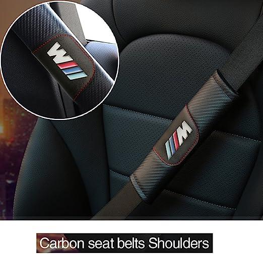 OYADM 2pcs Faux Leather Car Seat Gap Pad Fillers Spacer Filler Slot Plug For BMW