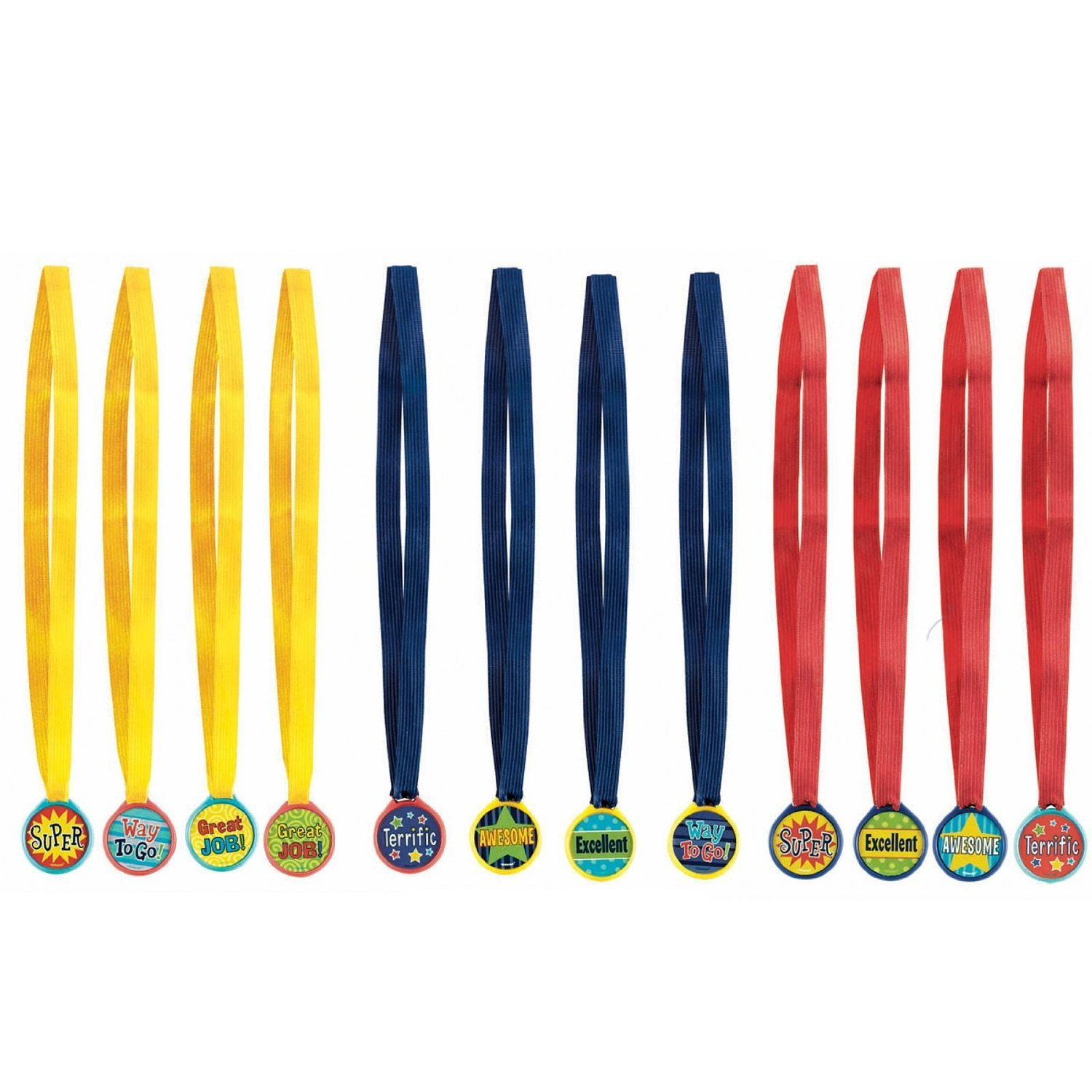 12ct Amscan  Assorted Award Medals Party Supplies Multicolor One Size