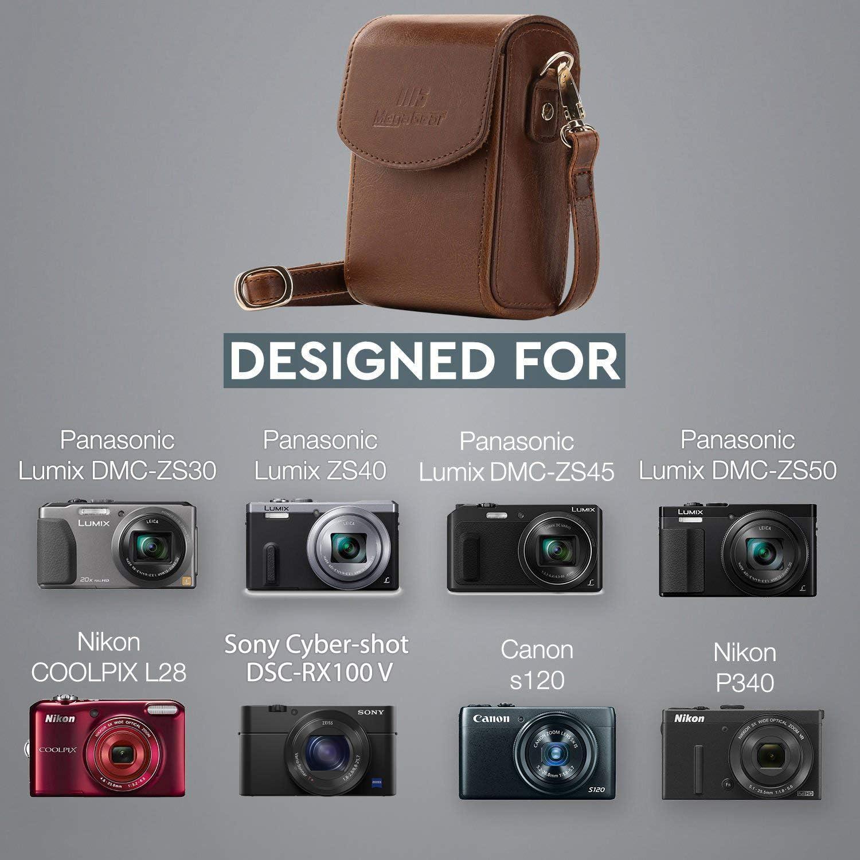 MegaGear Leather Case for Canon S120 Panasonic TZ70 Sony RX100 VI Nikon P340