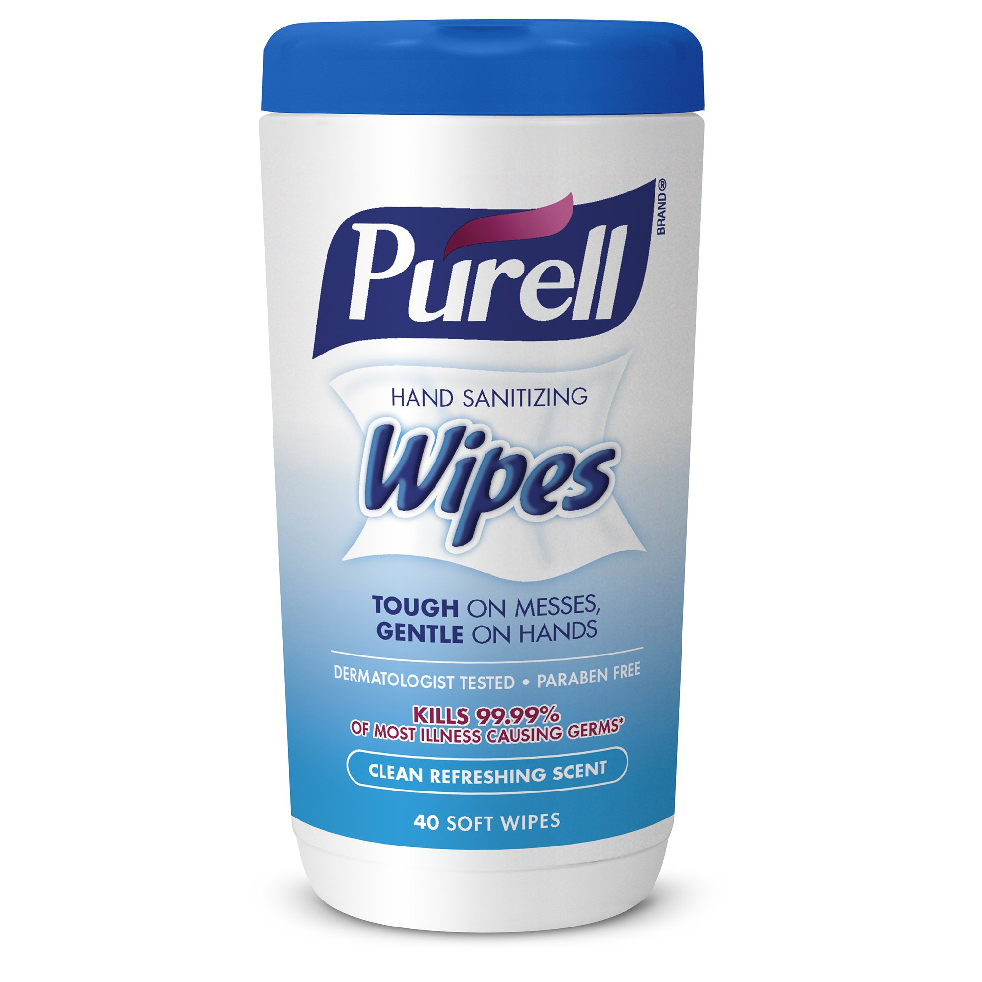 PURELL Hand Sanitizing Wipes - Clean Refreshing Scent, Non-Alcohol Wipes, 40 Count Canisters - 6 pack