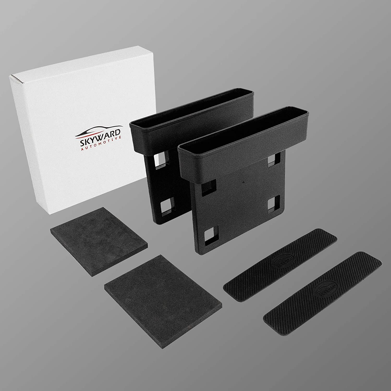 Multifunctional Car Seat Organizer Includes Silicone Non-Slip Inner Padding /& Adhesive Foam Pads Practical /& Minimalistic Design Standard Version Skyward Car Seat Gap Filler - 2 Pack