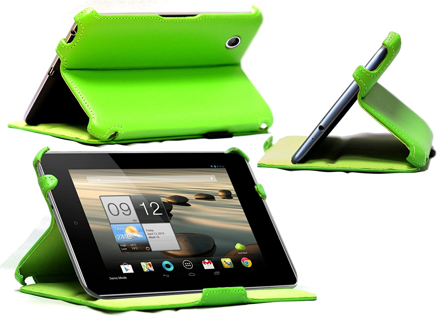 MiTAB Faux Leather Case Cover with Stand Compatible with The Acer Iconia A1 810 7.9 Inch (Multi Stand case, Green)
