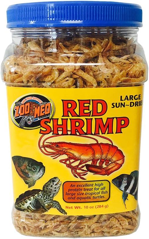 Amazon.com : Zoo Med Large Sun-Dried Red Shrimp Aquatic Turtle Food, 10 oz. : Pet Supplies