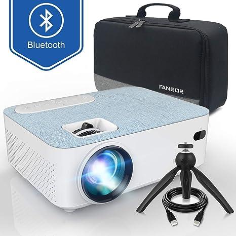 Proyector Bluetooth Fangor, proyector LCD portátil de 2800 lúmenes ...