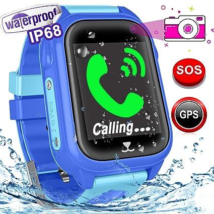 Amazon.com: Reloj inteligente para niños con GPS con ranura ...
