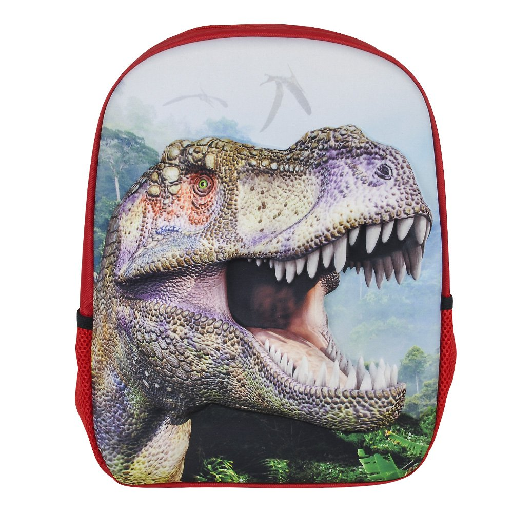 3D Jurassic Dinosaur T-Rex Backpack, Lunchbox, and Water Bottle Back to School by RIN (Image #3)